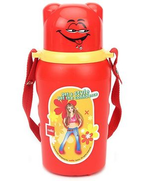 Cello Homeware Flipper Water Bottle Red - 600 ml