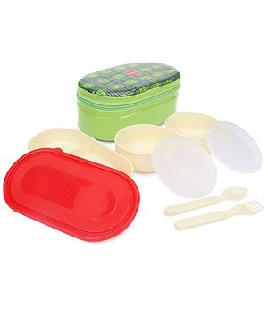 Cello Homeware Mega Bite Lunch Box - Green