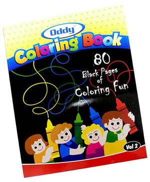 Oddy Black Pages Coloring Book 80 Pages - Set of 5