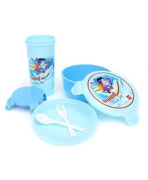 Cello Homeware Eat And Sip Lunch Box Set - Sky Blue