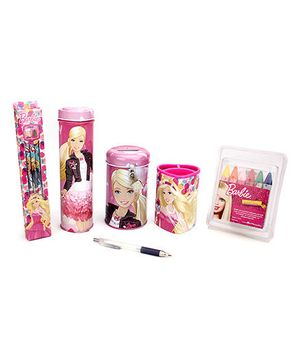 Barbie School Kit Pack Of 4 - Pink