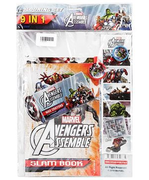 Marvel Avengers Coloring Set 9 In 1