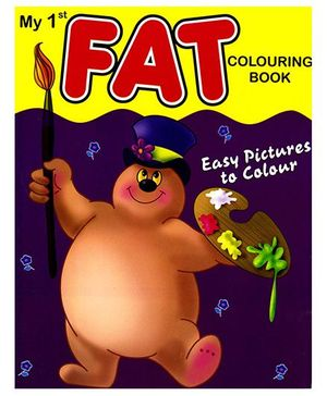 My 1st Fat Coloring Book - English