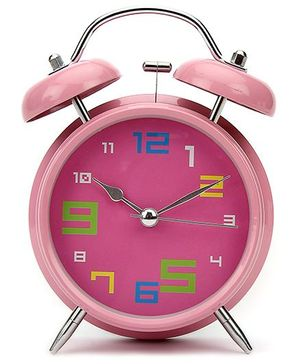 Kids Alarm Clock Round Shape - Pink
