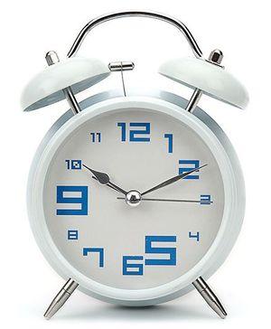 Kids Alarm Clock Round Shape - White