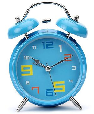 Kids Alarm Clock Round Shape - Blue