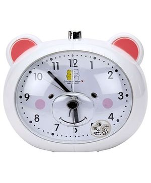 Alarm Clock Bear Design - White
