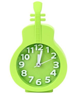 Kids Alarm Clock Guitar Shape - Green