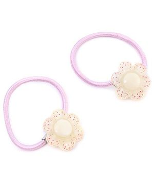 Rubber Band Floral Design 2 Pieces - Pink And White