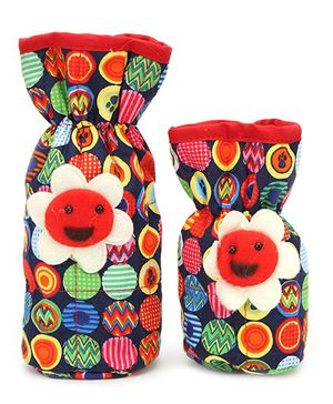 1st Step Printed Bottle Cover Sunflower Motif Pack of 2 - Multicolor
