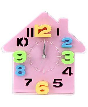 Kids Alarm Clock House Design - Pink
