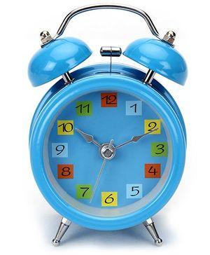 Kids Alarm Clock Round Shape - Blue