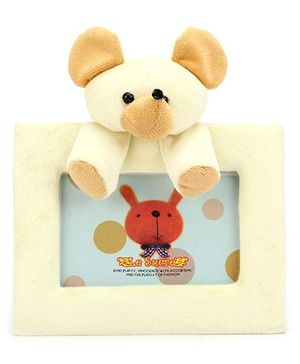 Teddy Design Rectangle Photo Frame - Light Yellow