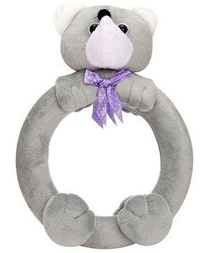 Teddy Bear Pattern Mirror - Grey