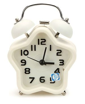 Star Shape Alarm Clock - White