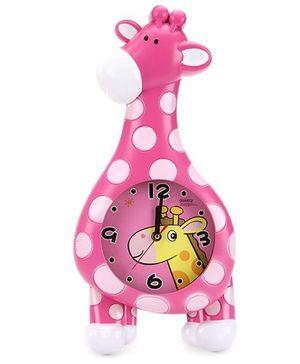 Giraffe Shape Alarm Clock - Pink