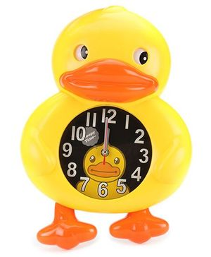 Duck Shape Alarm Clock Yellow - Black Dial