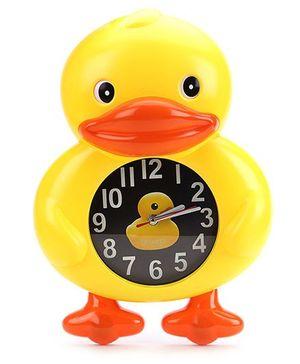 Duck Shape Kids Wall Clock - Yellow