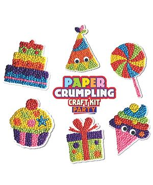 Paper Crumpling Craft Kit Party Pack Of 6 - Multi Color
