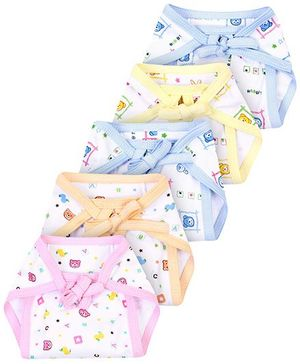 Babyhug Cloth Nappy String Tie Up With Insert Large - Set Of 5