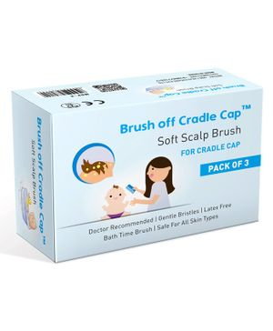 Cradela Cradle Cap Soft Scalp Brush - White