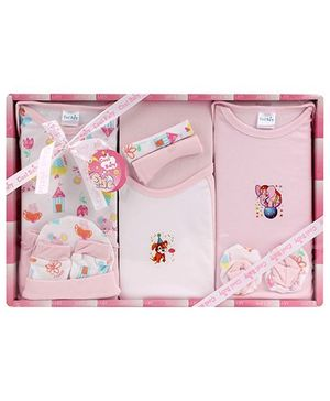 Cool Baby Baby Gift Set Multi Print Pink - Pack Of 10 Pieces
