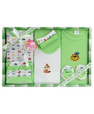Cool Baby Baby Gift Set Multi Print Green - Pack Of 10 Pieces