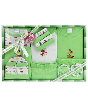 Cool Baby Baby Gift Set Printed Green - Pack Of 15 Pieces