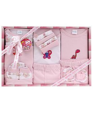 Cool Baby Baby Gift Set Printed Pink - Pack Of 15 Pieces