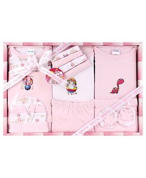Cool Baby Baby Gift Set Animals Print Pink - Pack Of 15 Pieces