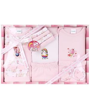 Cool Baby Baby Gift Set Multi Print Pink - Pack Of 15 Pieces