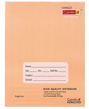 Camlin High Quality Brown Notebook Single Line - 160 Pages