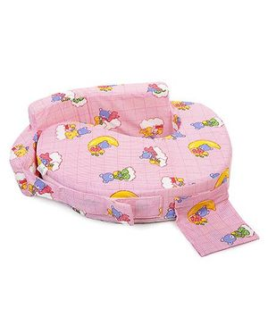 Babyhug Feeding Pillow Teddy Print - Pink