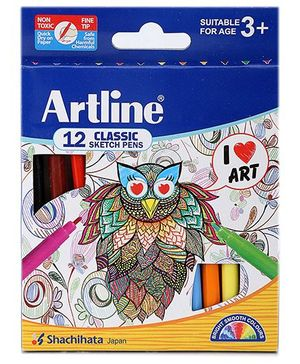 Artline Sketch Pen - 12 Color