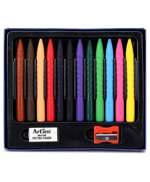 Artline Gripped Plastic Crayons - 12 Colors