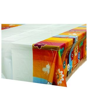Partymanao Platic Table Cover Floral Print
