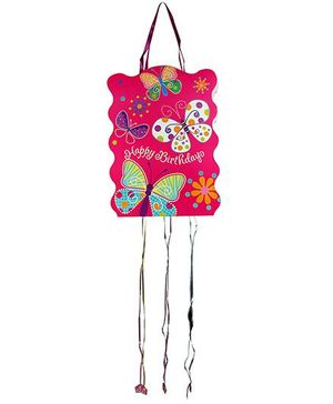 Partymanao Happy Birthday Pinata Butterfly Print