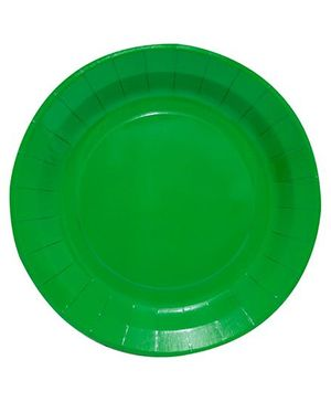 Partymanao Paper Plates Pack of 10 Pieces - Green