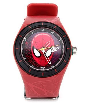 Titan Zoop Analog Wrist Watch Spiderman Print - Red