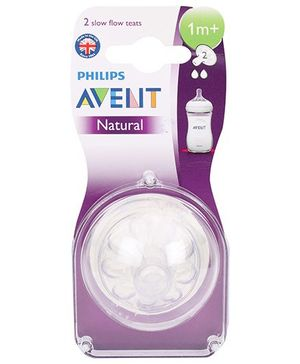 Avent Teat Natural Slow Flow - Pack Of 2