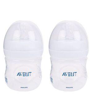 Avent Natural Plastic Baby Bottle Pack Of 2 - 125 ml