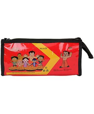 Chhota Bheem Pencil Pouch - Red And Yellow
