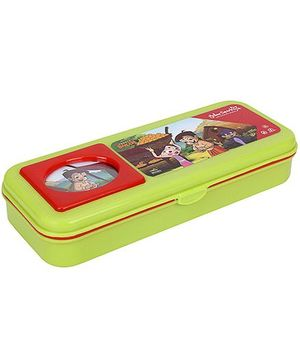 Chhota Bheem Plastic Pencil Box - Green And Red