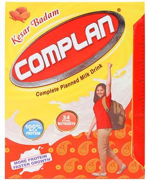 Complan Kesar Badam Refill Pack - 200 gm
