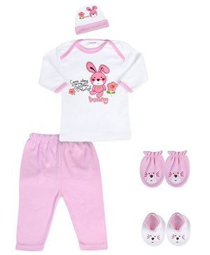 Babyhug Baby Gift Set Pink - Pack of 5 Pieces