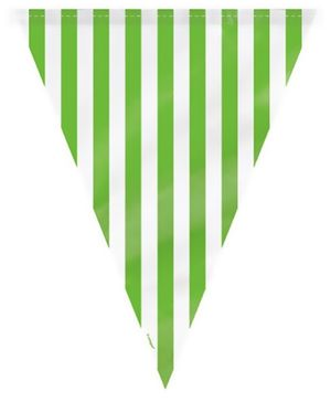 Wanna Party Striped Flag Buntings - Green
