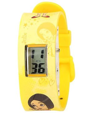 Chhota Bheem Wrist Watch Plastic LCD - Yellow