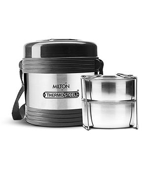 Milton Thermosteel Two Container Lunch Box Silver - 621 gm
