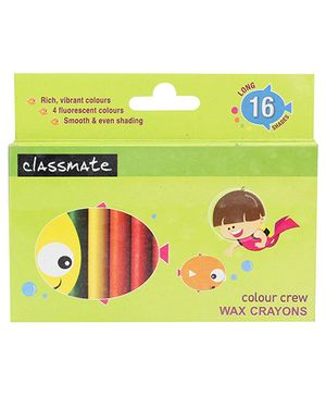 Classmate Celor Crew Wax Crayons - 16 Shades