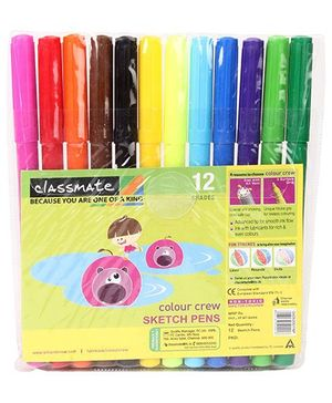 Classmate Sketch Pens Set Of 12 - 14 cm